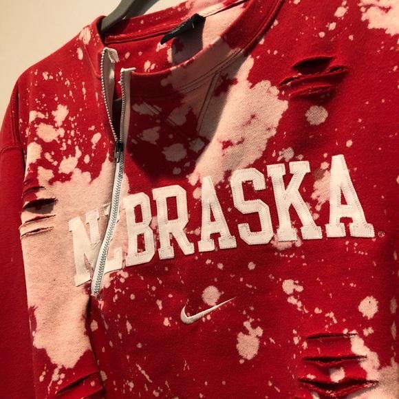 f7a230bae Nike Nebraska Custom Crewneck with zipper. M_5b4778ff7386bca63bcfc19b.  Other Sweaters ...